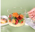 Glass Soup Bowl with Lid and Handle 47 FL OZ