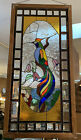 Vintage leaded stained and beveled glass window