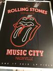 Rolling Stones 2015 Nashville Concert Poster Zip Code Tour Music City From Show