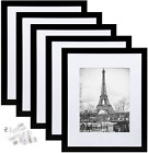 Picture Frame Set of 5 Display Pictures Wall Gallery Photo FramesBlack