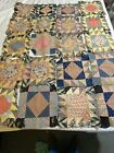 Antique Vintage Quilt Top Blocks X20 12 Feed Sack Feedsack Material