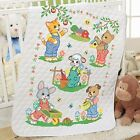 Herrschners Little Farmers Baby Quilt Stamped Cross Stitch Kit