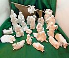 Vintage Avon Nativity Collectibles  21 Pc set Flying AngelStable W Boxes NOS