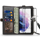 Leather Card Holder Wallet Magnetic Cover For Samsung Galaxy S21 S20 Plus S10e