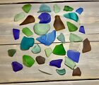 SEA GLASS Lot Rainbow Assorted Multi Colors From New England Beaches