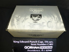 New Gorham King Edward glass punch bowl cup footed glasses set 6 crystal