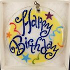 Peggy Karr glass Happy birthday GLASS ornament handcrafted made in the USA