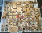 Lot of 160+ Wood Mounted Rubber Stamps Stamping Stamp Flowers Christmas Hero Art