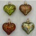 Dept 56 Blown Glass Christmas Ornaments Lot of 4 Hearts 25 Poland Lot 1