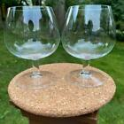 Moser Brandy Snifter Glasses Clear Crystal Set of 2