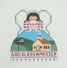 Handpainted Needlepoint Canvas God Bless America Angel Painted Pony PP 398AB 18M