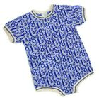 Vintage Carters One Piece Bodysuit Baby Boys 18 Months Blue Numbers