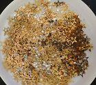 Brass Bright Gold  Silvertone Assorted Star Charms Huge 10 oz Lot