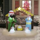8Ft Christmas Inflatable Nativity Scene Blowup Air Blown Yard Outdoor Decoration