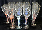 Mikasa Sea Mist Flutes Wine Water Goblets Amethyst Coral Turquoise Lot 14 Stems