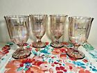 NEW Pioneer Woman Luster Pink Iridescent Pearlized Glass Goblet Wine Water Set 4