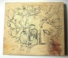 Rubber Wood Stamp Stampa Rosa 264 Feeder Friends Mudpie House Mouse 1999