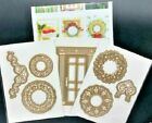 Anna Griffin CHRISTMAS WREATH Cut and Emboss Die Set RARE