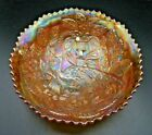 VERY RARE BEAUTIFUL VINTAGE FENTON PEACOCK AND URN CARNIVAL GLASS NUT BOWL