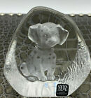 Mats Jonasson Sweden Full Lead Crystal Paperweight Dalmatian Pup Signed Numbered