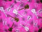 Rock On ~ Tossed Guitars ~ Multi Colored ~ Pink ~ New!