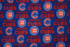 Chicago Cubs Bl MLB Baseball Sports Team Print Fleece Fabric by the Yard s6567bf