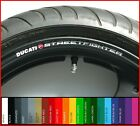 8 x DUCATI STREETFIGHTER Wheel Rim Decals Stickers - 20 Colours - 1100 848 S