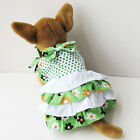 Green Dots Dress Skirt Custome dog clothes Chihuahua