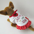 Cherry Dress Dots Skirt Custome dog clothes Chihuahua