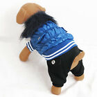 Blue Quilted Jacket Overall pet dog clothes Chihuahua New