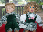 KNIGHTSBRIDGE COLLECTION PORCELAIN BOY & GIRL DOLL -APPROX 15 TALL