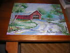Vintage Puzzle The Olde Covered Bridge by Richard Bauer