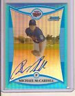 MICHAEL MCCARDELL 2008 BOWMAN CHROME BLUE REFRACTOR AUTO SERIAL #48 150