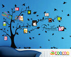 Wall Decal Sticker Removable Photo Frame Tree With Family Quote 39H x 80W