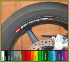 8 x Aprilia RSV 1000 Factory R Wheel Rim Decals Stickers - mille tuono