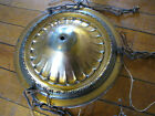 THREE DROP BRASS HUBCAP FIXTURE IN ORIGINAL FINISH CHAIN 4 ARMS INCLUDED (DC199)