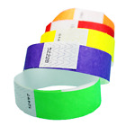 3 4 Tyvek Wristbands Choose Your Color 100ct 500ct or 1000ct