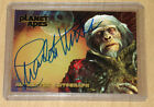 2001 Topps Planet of Apes movie Charlton Heston on-card authenticated autograph