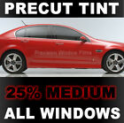 Jeep YJ Wrangler Hard Top 89-93 PreCut Window Tint - Medium 25% VLT Film