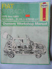 FIAT STRADA  1979-80 HAYNES WORKSHOP MANUAL