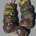 9 old antique venetian cylindrical millefiori african trade beads 579