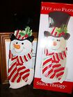 FITZ & FLOYD SNACK THERAPY PLATE CHRISTMAS SNOWMAN SERVER