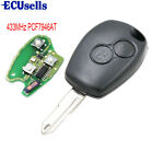 2 Buttons 433Mhz Remote Key Control Fob for RENAULT With ID46 Chip PCF7946AT