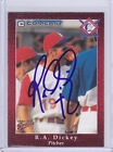 R.A DICKEY SIGNED AUTOGRAPH 1998 COMCAST #6 CARD JSA