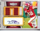 2010 TOPPS UNRIVALED DWYANE BOWE AUTO 3 COLOR PATCH 02 15!!