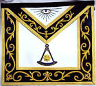 HAND EMBROIDED MASONIC  PAST MASTER APRON GOLD DAX-06