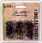 Tim Holtz Idea ology 99 LONG FASTENERS BRADS METAL EMBELLISHMENTS 3 COLORS