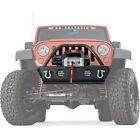 Warn Rock Crawler Stubby Front Bumper w Grille Guard For 07 18 Jeep Wrangler JK