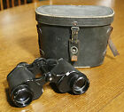 Vintage HAMBLETONIAN Binoculars with Leather Case 8x30 Made in Japan Nice