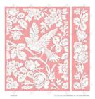 Cuttlebug EMBOSSING Folder AVIARY by ANNA GRIFFIN A2 with BORDER FOLDER